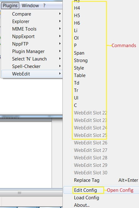 How to add HTML tag keyboard and toolbar shortcuts to Notepad++