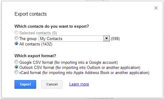 How-to-import-Gmail-contacts-into-Microsoft-Outlook-Export-Options
